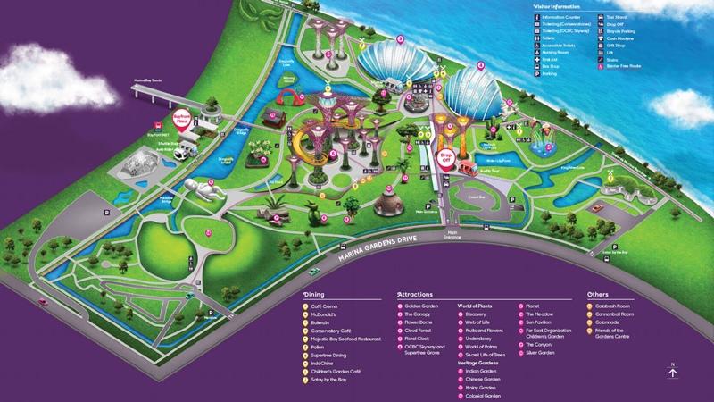 濱海灣花園地圖2
