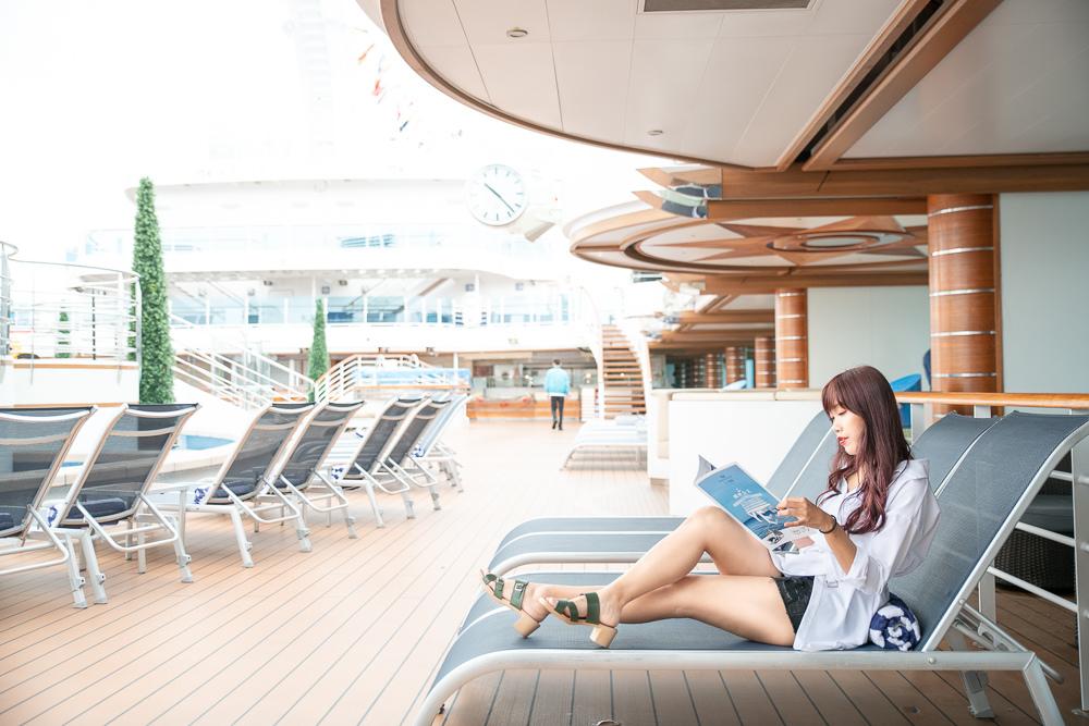 公主遊輪甲板