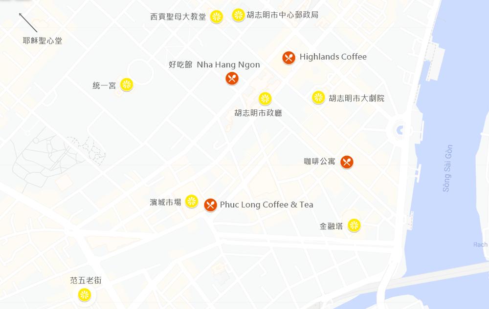胡志明市地圖
