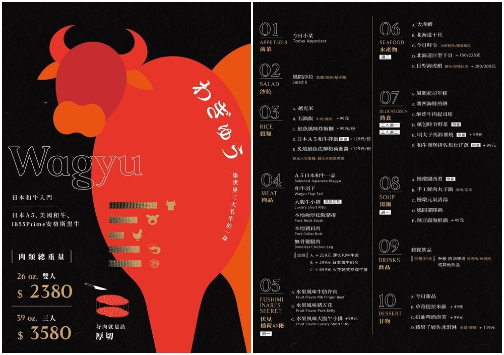 燒肉風間菜單-3