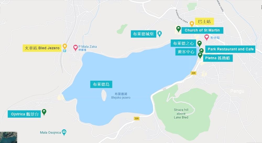 布萊德湖地圖