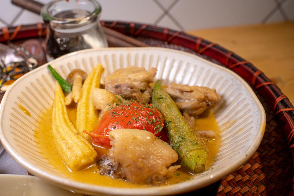 南洋綠咖哩燉雞