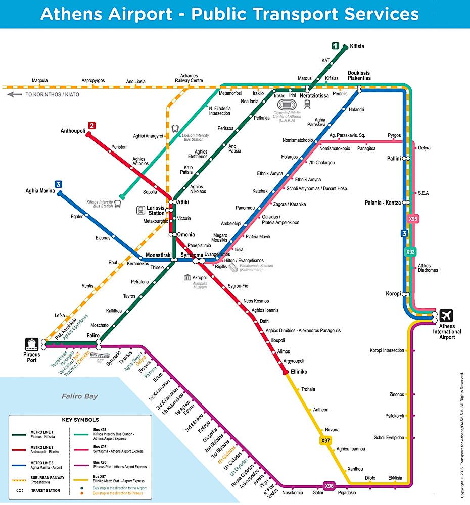 雅典交通圖