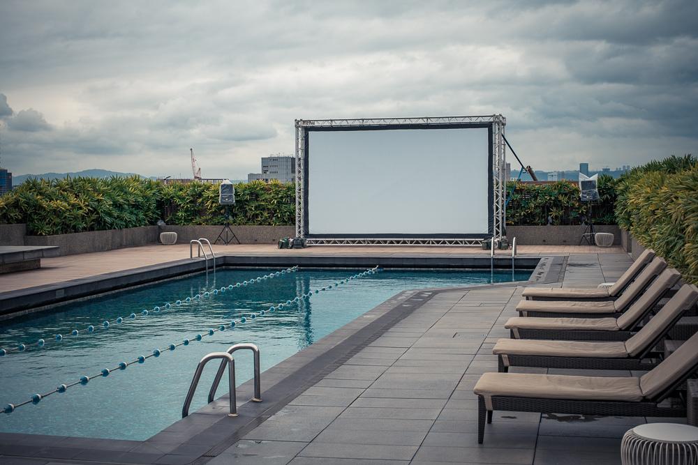 晶華酒店頂樓泳池