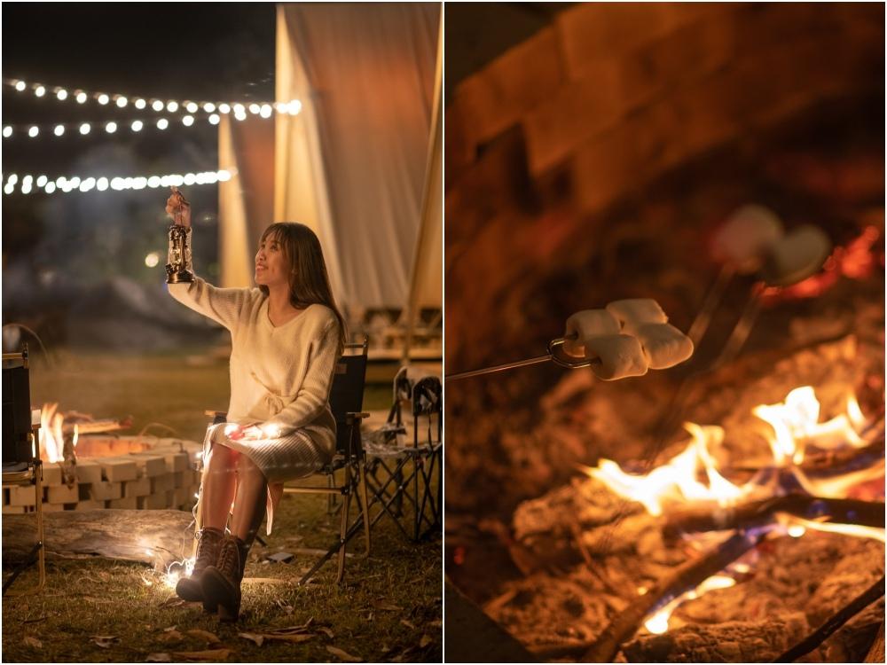 蟬說山中靜靜 營火