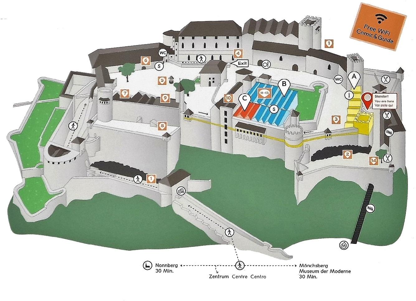 薩爾斯堡要塞地圖