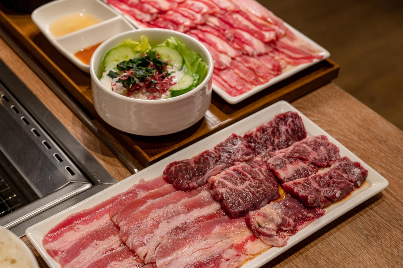 燒肉like 牛五花 &橫隔膜套餐